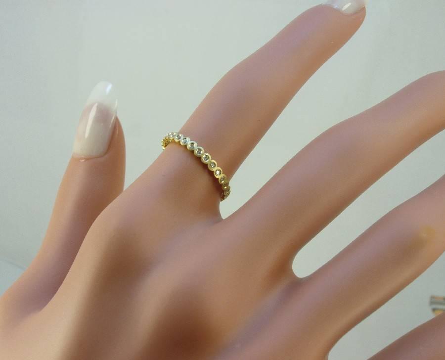 עדכון מעודכן טבעת זהב בשיבוץ 30 יהלומים להיקף | טבעות אירוסין מעוצבות ועדינות FE-34