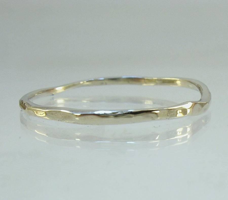 כולם חדשים טבעת זהב לבן עדינה | טבעות נישואין קלאסיות | גלריית אבינו YT-71